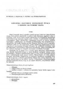 Kirurška anatomija kranijskih živaca u odnosu na tumore vrata / B. Pegan, I. Padovan, V. Petrić, R. Štern-Padovan