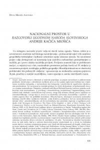 Nacionalni prostor u Razgovoru ugodnom naroda slovinskoga Andrije Kačića Miošića / Divna Mrdeža Antonina
