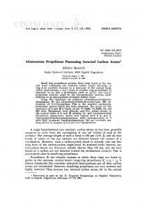 Adamantane propellanes possessing inverted carbon atoms / Z. Majerski