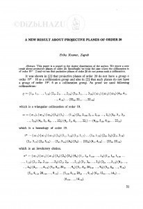 A new result about projective planes of order 20 / E. Kramer