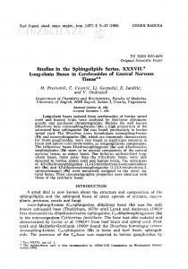 Studies in the Sphingolipids Series. XXXVII. Long-chain bases in cerebrosides of central nervous tissue / M. Proštenik, Č. Ćosović, Lj. Gospočić, Z. Jandrić, V. Ondrušek