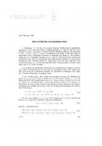 Eine kubische Nullkorrelation / O. Bottema