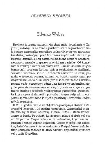 Glazbena kronika / Zdenka Weber