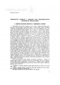 Jedinstvo teorije i prakse kao pretpostavka izgradnje socijalizma / D. Čalić