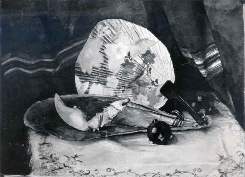 Raškaj, Slava (1877-1906) : Mrtva priroda s lepezom