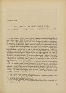 O Sisku u starohrvatsko doba na temelju pisanih izvora i arheoloških nalaza / Anđela Horvat