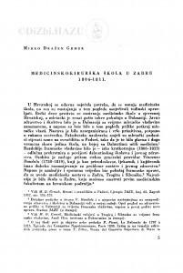 Medicinsko-kirurška škola u Zadru 1806-1811. / M. D. Grmek