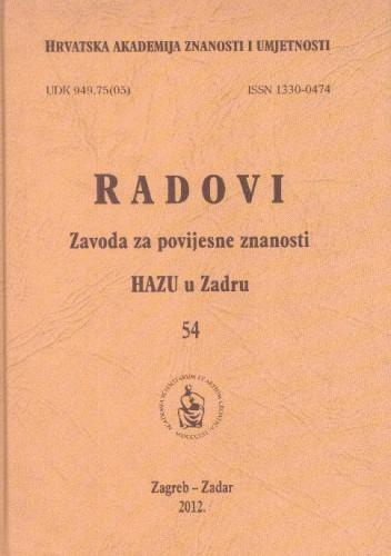 Sv. 54(2012) / glavni i odgovorni urednik Franjo Šanjek