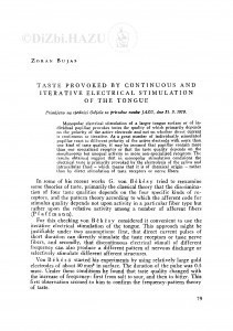 Taste provoked by continuous and iterative electrical stimulation of the tongue / Z. Bujas