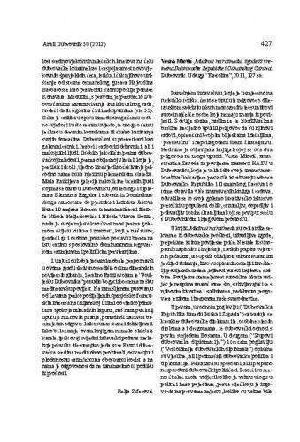 Vesna Miović, Mudrost na razmeđu: zgode iz vremena Dubrovačke Republike i Osmanskog Carstva. Dubrovnik: Udruga