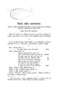 Stariji oblici samostavni / F. Kurelac