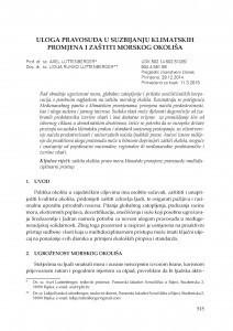 Uloga pravosuđa u suzbijanju klimatskih promjena i zaštiti morskog okoliša / Axel Luttenberger ; Lidija Runko Luttenberger