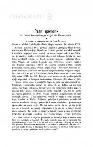Pisan spomenik iz dobe hrvatskoga vojvode Branimira : 1. Razprava Sime Ljubića; 2. Razprava Franjo Račkoga