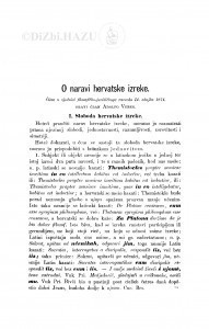 O naravi hervatske izreke / A. Veber
