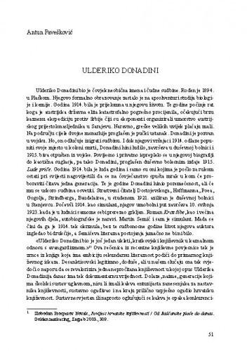Ulderiko Donadini / Antun Pavešković