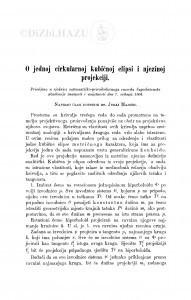 O jednoj cirkularnoj kubičnoj elipsi i njezinoj projekciji / J. Majcen
