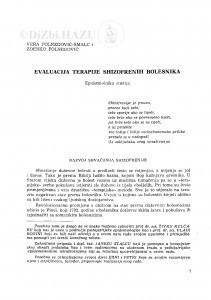 Evaluacija terapije shizofrenih bolesnika : epidemiološka studija / V. Folnegović-Šmalc i Z. Folnegović
