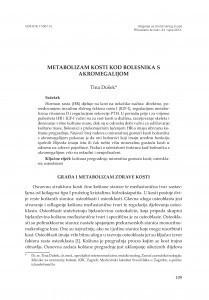 Metabolizam kosti kod bolesnika s akromegalijom / Tina Dušek