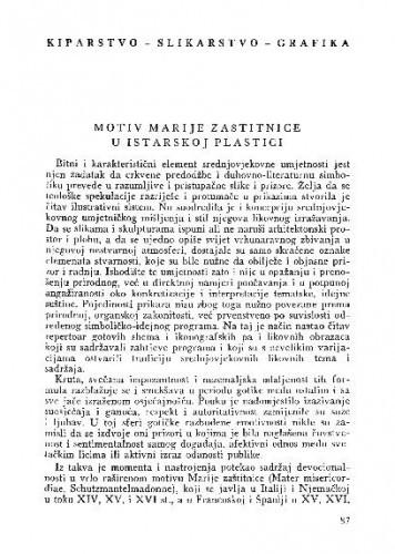 Motiv Marije zaštitnice u istarskoj plastici / Vanda Ekl