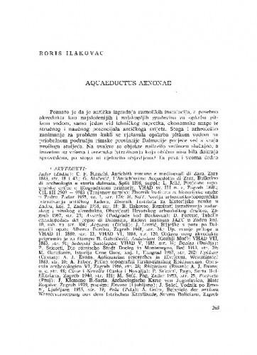 Aquaeductus Aenonae / Boris Ilakovac