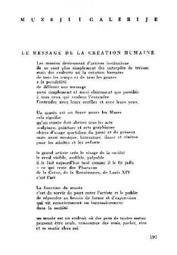Le message de la création humaine / William Sandberg