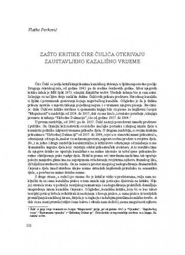 Zašto kritike Ćire Čulića otkrivaju zaustavljeno kazališno vrijeme / Vlatko Perković