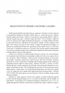 Menčetićeve pjesme o Kotoru i Zadru / Lahorka Plejić Poje