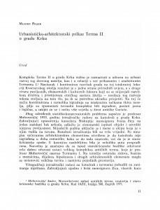 Urbanističko-arhitektonski prikaz Terma II u gradu Krku / Mladen Filjak