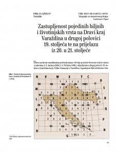 Zastupljenost pojedinih biljnih i životinjskih vrsta na Dravi kraj Varaždina u drugoj polovici 19. stoljeća te na prijelazu iz 20. u 21. stoljeće / Emil Flajšman