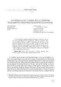 Legenda o Sv. Ladislavu u zidnom slikarstvu srednjovjekovne Slavonije / Maja Cepetić Rogić