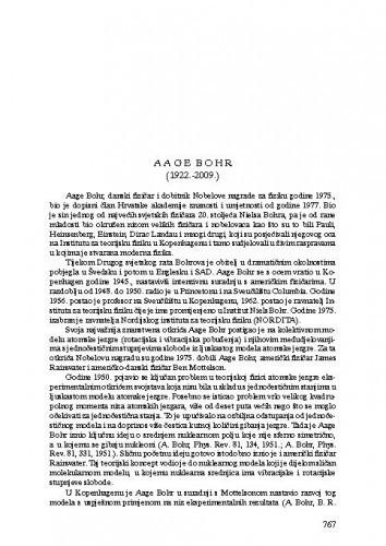 Aage Bohr (1922.-2009.) : [nekrolog] / Vladimir Paar