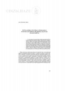 Populacijska politika u zemljama s posttranzicijskim obilježjima razvoja stanovništva / Alica Wertheimer-Baletić