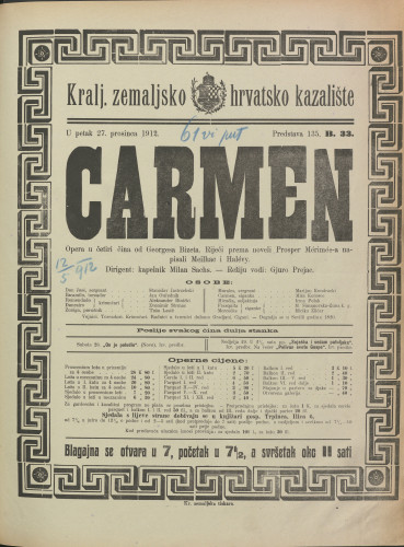 Carmen Opera u četiri čina