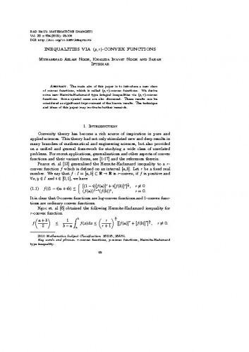 Inequalities via (p, r)-convex functions