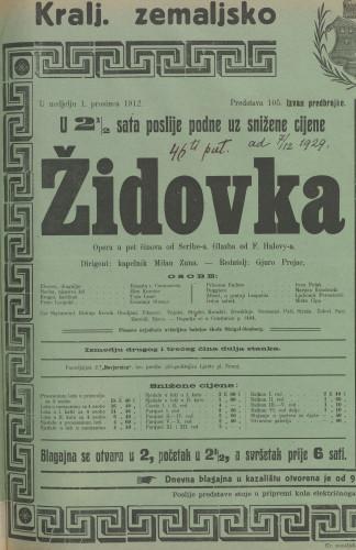 Židovka : Opera u pet činova