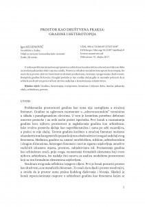 Prostor kao društvena praksa: gradine i heterotipija / Igor Kulenović