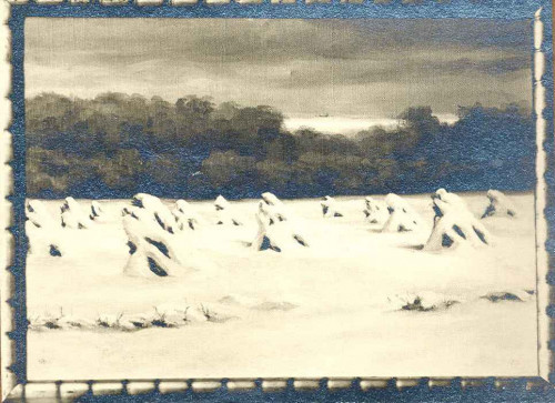 Rojc, Nasta (1883-1964) : Snijeg u polju kukuruza