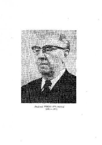 Akademik Ferdo Čulinović (1897-1971) : [nekrolog] / B. Gušić