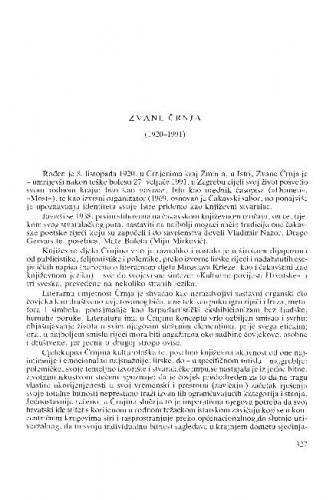 Zvane Črnja (1920-1991) : [nekrolozi] / Miroslav Šicel