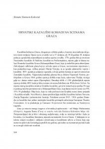 Hrvatski kazališni komadi na scenama Graza / Renate Hansen-Kokoruš