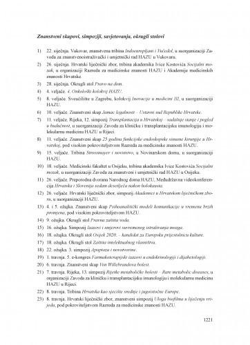 Kalendar događanja u 2016. u organizaciji, suorganizaciji ili pod pokroviteljstvom Hrvatske akademije znanosti i umjetnosti
