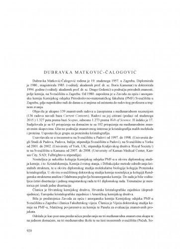 Dubravka Matković-Čalogović