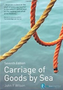 Carriage of goods by sea / John F. Wilson