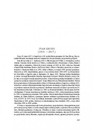 Ivan Erceg (1919.-2017.) : [nekrolog] / Damir Karbić