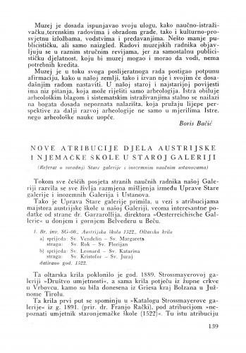 Nove atribucije djela austrijske i njemačke škole u Staroj galeriji / Ivy Kugli