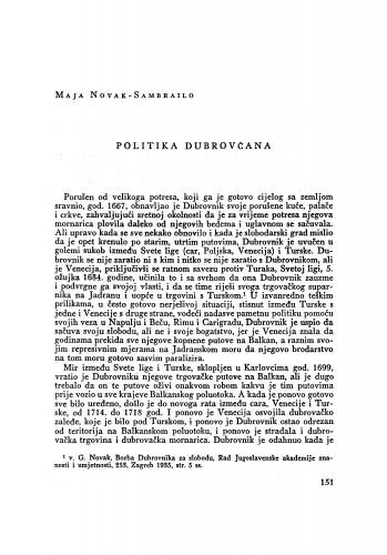 Politika Dubrovčana / Maja Novak-Sambrailo