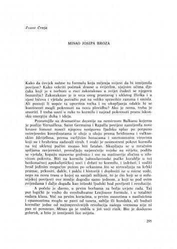 Misao Josipa Broza / Z. Črnja