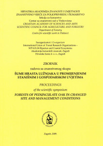 Zbornik radova sa znanstvenog skupa Šume hrasta lužnjaka u promijenjenim stanišnim i gospodarskim uvjetima : Proceedings of the scientific symposium Forests of Pedunculate oak in changed Site and Management Conditions / [urednici, editors Slavko Matić, Igor Anić]