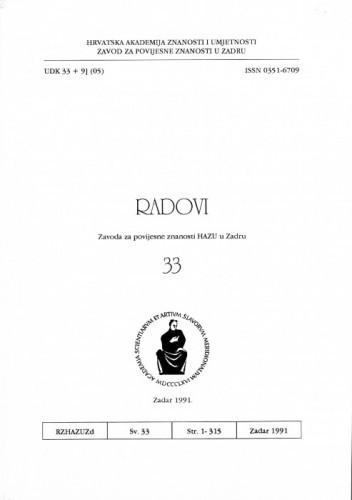 Sv. 33(1991) / odgovorni urednik Mate Suić