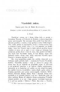 Vinodolski zakon / M. Kostrenčić